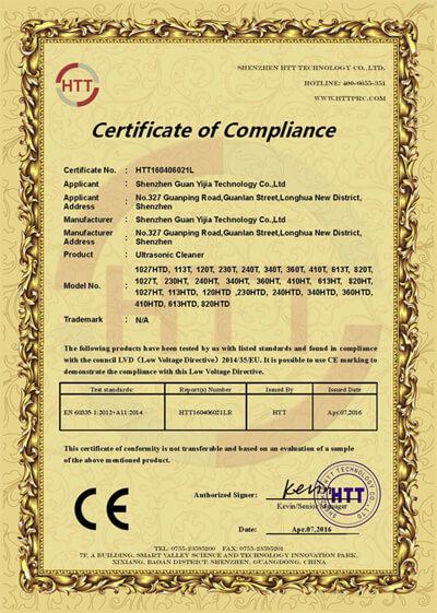 CE LVD Certificate