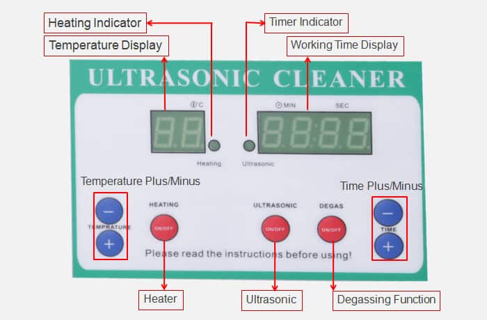 Degassing Sonic Cleaner