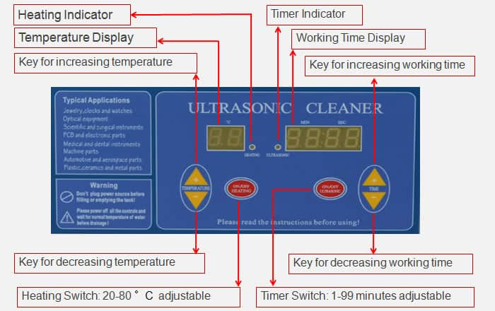Digital Ultrasonic Cleaning Machine Display