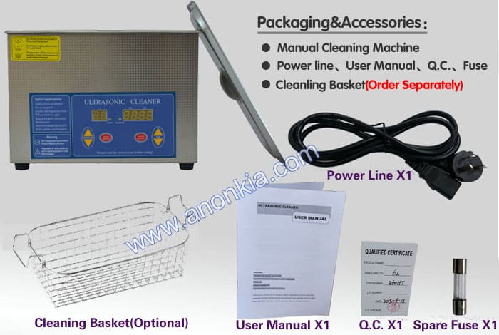 digital ultrasonic cleaner packaging