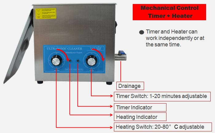 10L ultrasonic cleaning machine