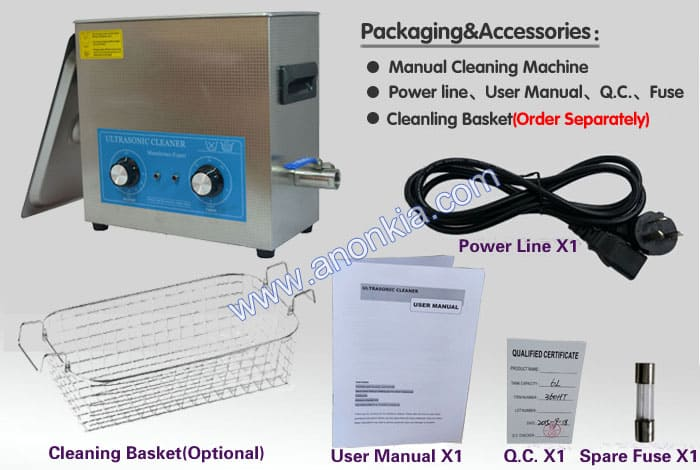 ultrasonic cleaner machine packaging