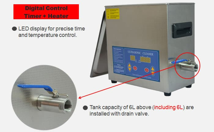 6L digital dental ultrasonic cleaner