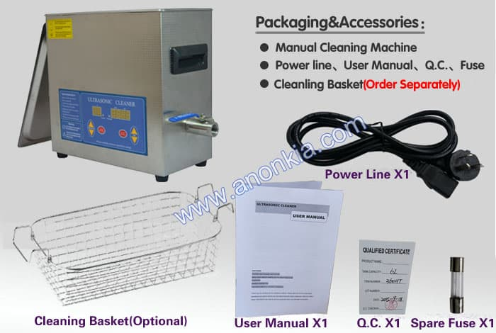 dental ultrasonic cleaner package