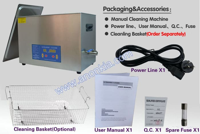 Ultrasonic Cleaning Machine Packaging