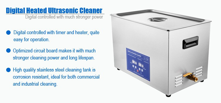 30L Commercial Ultrasonic Parts Cleaner with Heater