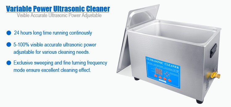 30L Variable Power Ultrasonic Parts Cleaner