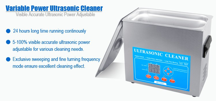 4 Litres Variable Power Ultrasonic Bath Sonicator