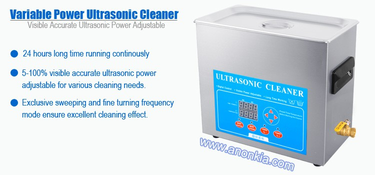 6 Litres Variable Power Ultrasonic Jewellery Cleaner