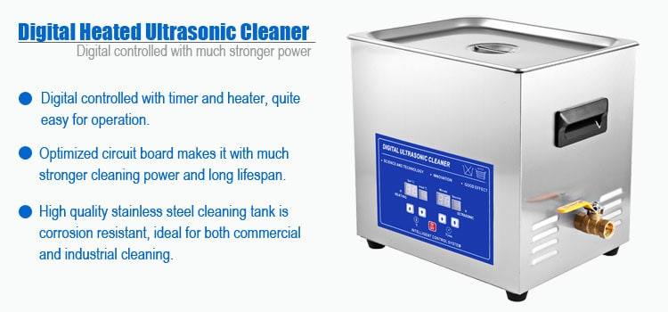 10L Digital Ultrasonic Cleaner Features Description