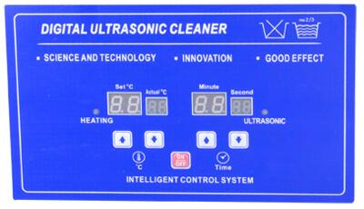 KHTD Digital Ultrasonic Cleaner Operation interface