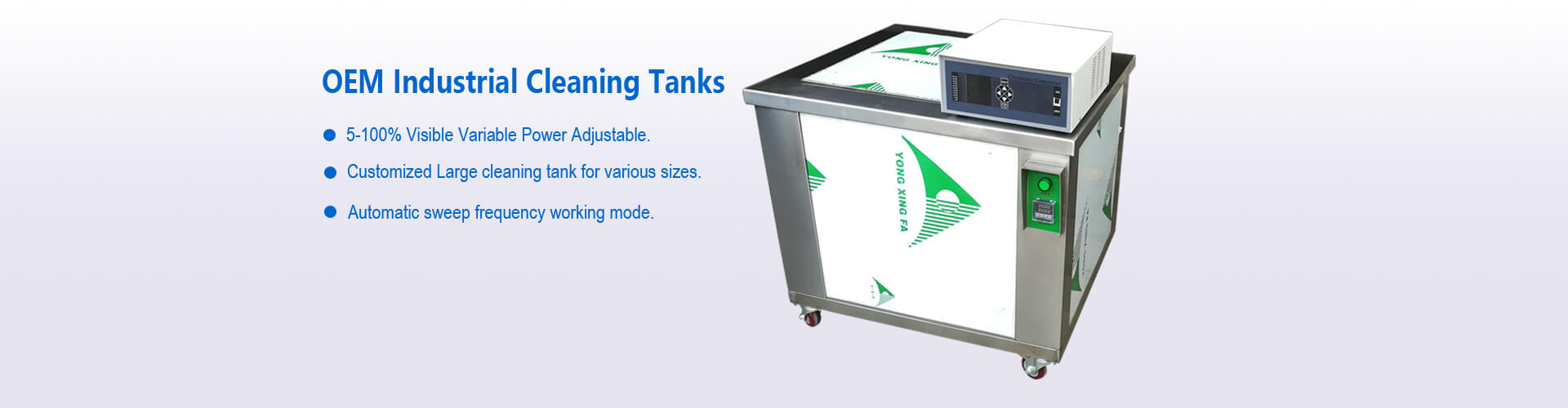 Industrial Ultrasonic Cleaner With Large Cleaning Tanks