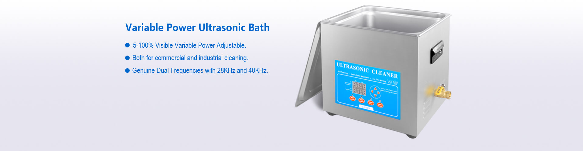Variable Power Ultrasonic Bath Sonicator