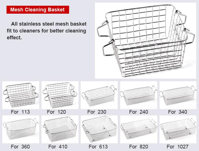 ultrasonic cleaner basket