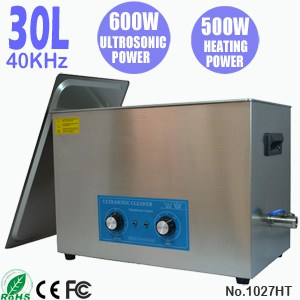 1027HT 30L Small Industrial Ultrasonic Cleaner with Heater