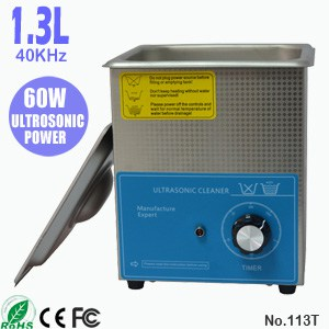 113T 1.3L Small Commercial Ultrasonic Watch Cleaner
