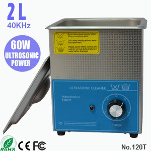 120T 2L Sonic Glasses Cleaning Ultrasonic Eyeglass Cleaner