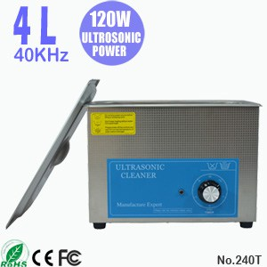 240T 4L Stainless Steel Tank Ultrasonic Cleaning Bath