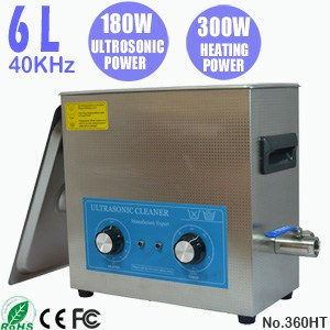 360HT 6L Ultra Sonic Cleaning Bath Heated Ultrasonic Cleaner
