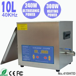 410HTD 10L Portable Digital Heated Ultrasonic Cleaner