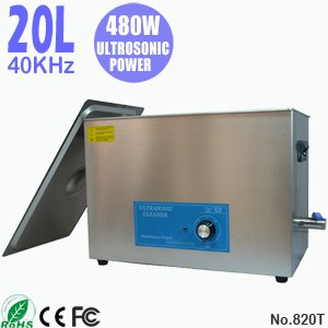 820T 20L Portable Stainless Steel Ultrasonic Cleaning Tank