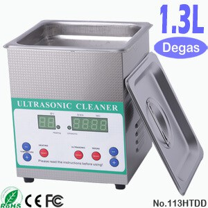113HTDD 1.3L Small Ultrasonic Cleaning Bath with Degas