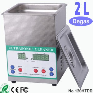 120HTDD 2L Ultrasonic Cleaning Sonic Cleaner with Degas