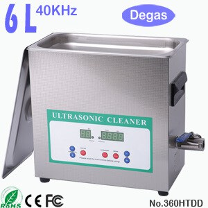 360HTDD 6L Digital Ultrasonic Cleaner with Degassing
