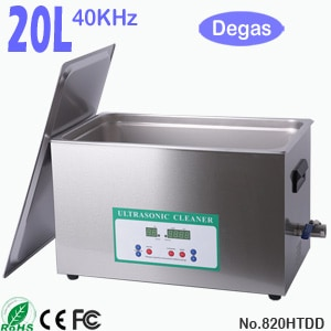 820HTDD 20L Ultrasonic Cleaning Sonic Cleaner with Degas