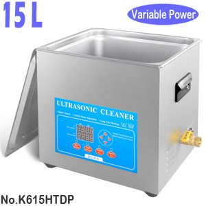 K615HTDP 15L Variable Power Heated Ultrasonic Water Bath