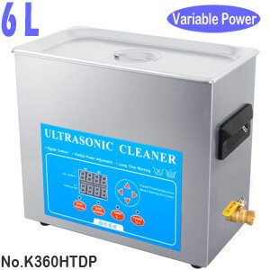 K360HTDP 6L Litres Variable Power Ultrasonic Jewellery Cleaner