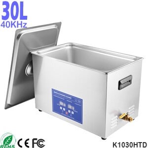 30L Stainless Steel Digital Heated Ultrasonic Cleaner Machine