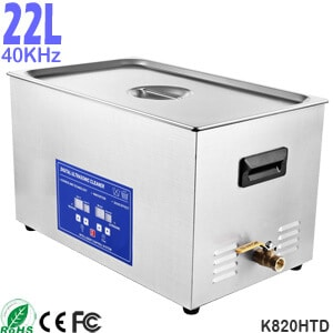 K820HTD 20L Large Capacity Commercial Benchtop Ultrasonic Cleaner