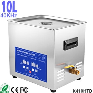 K410HTD Best 10L Digital Ultrasonic Cleaner for Carburetors