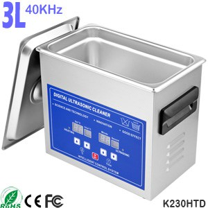 K230HTD 3L Digital Heated Sonic Bath Ultrasonic Jewelry Cleaner