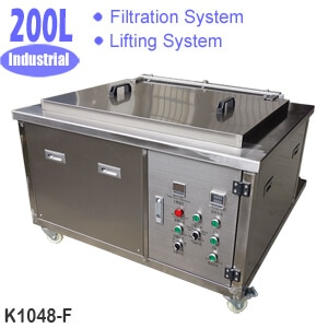 200L Automated Ultrasonic Cleaner with Filtration System